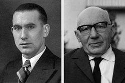 <b>Helmut Korte</b> und Fritz Kleemeier - chronik-firmengruender